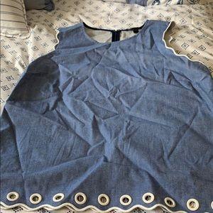 Jcrew blue tank top